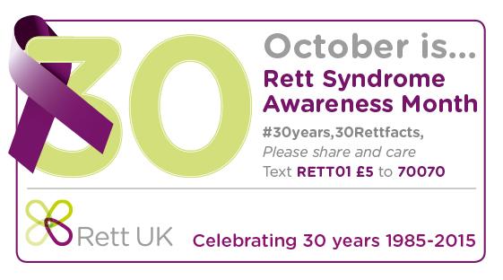 1st october rett awareness month rett uk