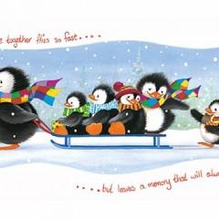 Penguins Time Together Christmas Card